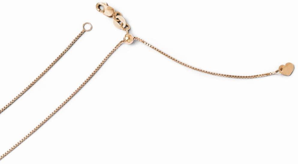 Leslies 14k Rose Gold Adjustable .8mm Box Chain