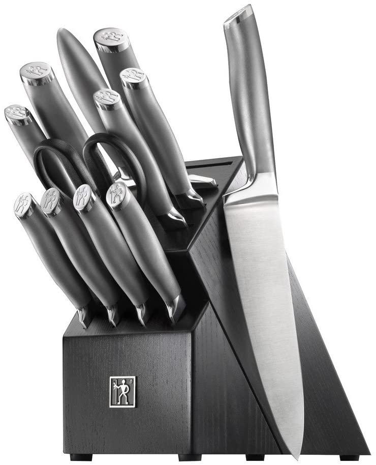 HENCKELS J.A International Modernist 13-pc Knife Block Set, Black