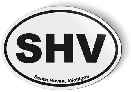 Stickers & Tees SHV South Haven Michigan Oval - Car Magnet - 5
