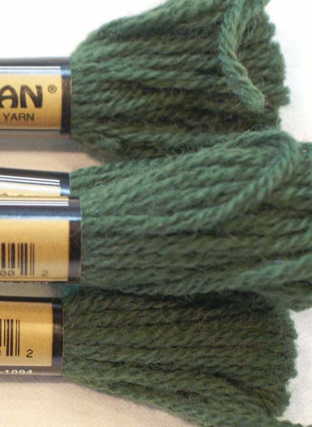 Paternayan Needlepoint 3-ply Wool Yarn-Color-601-Forest Green-2 Mini 8- YDS SKEINS- OR PRE Cut Equivalent- with This Listing