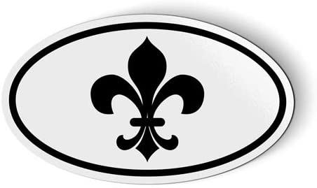 Stickers & Tees Fleur De Lis New Orleans Oval - Car Magnet - 5