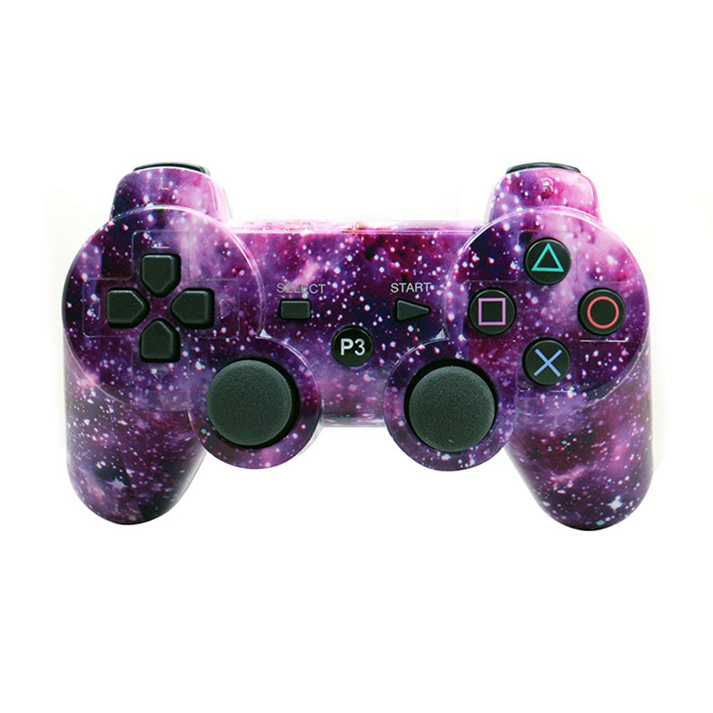 MeterMall Game Controller For PS3 Gamepad Bluetooth Controller Joystick Vibrator for Playstation 3 Wireless Gamepad Starry sky Game Accessories