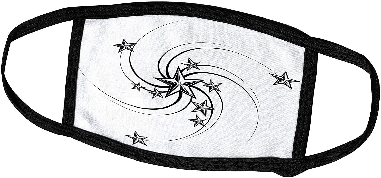 3dRose Edmond Hogge Jr – Tattoos - Star Tattoo Design - Face Masks (fm_211643_2)