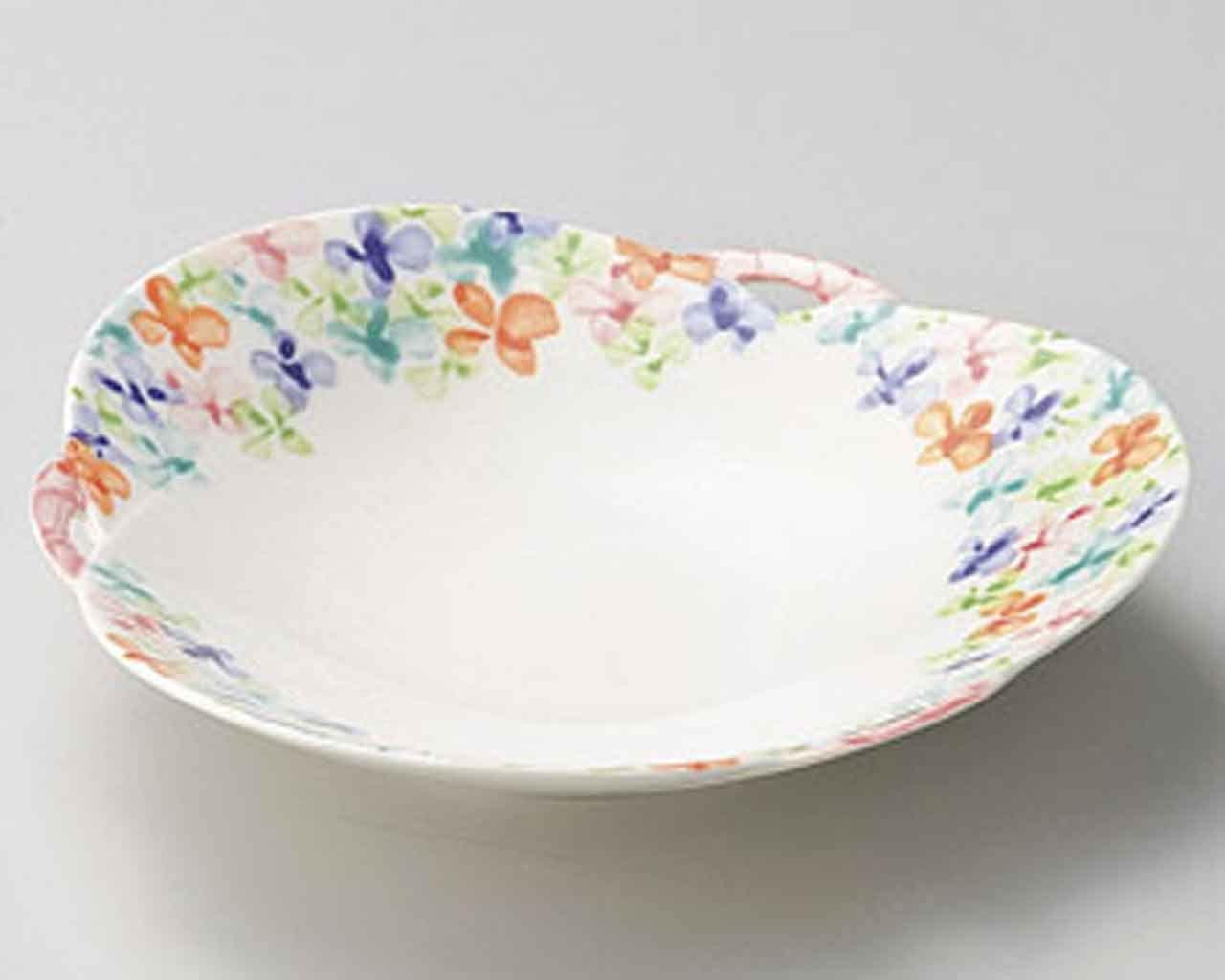 Small Flower 7.9inch Medium Plate White porcelain Made in Japan