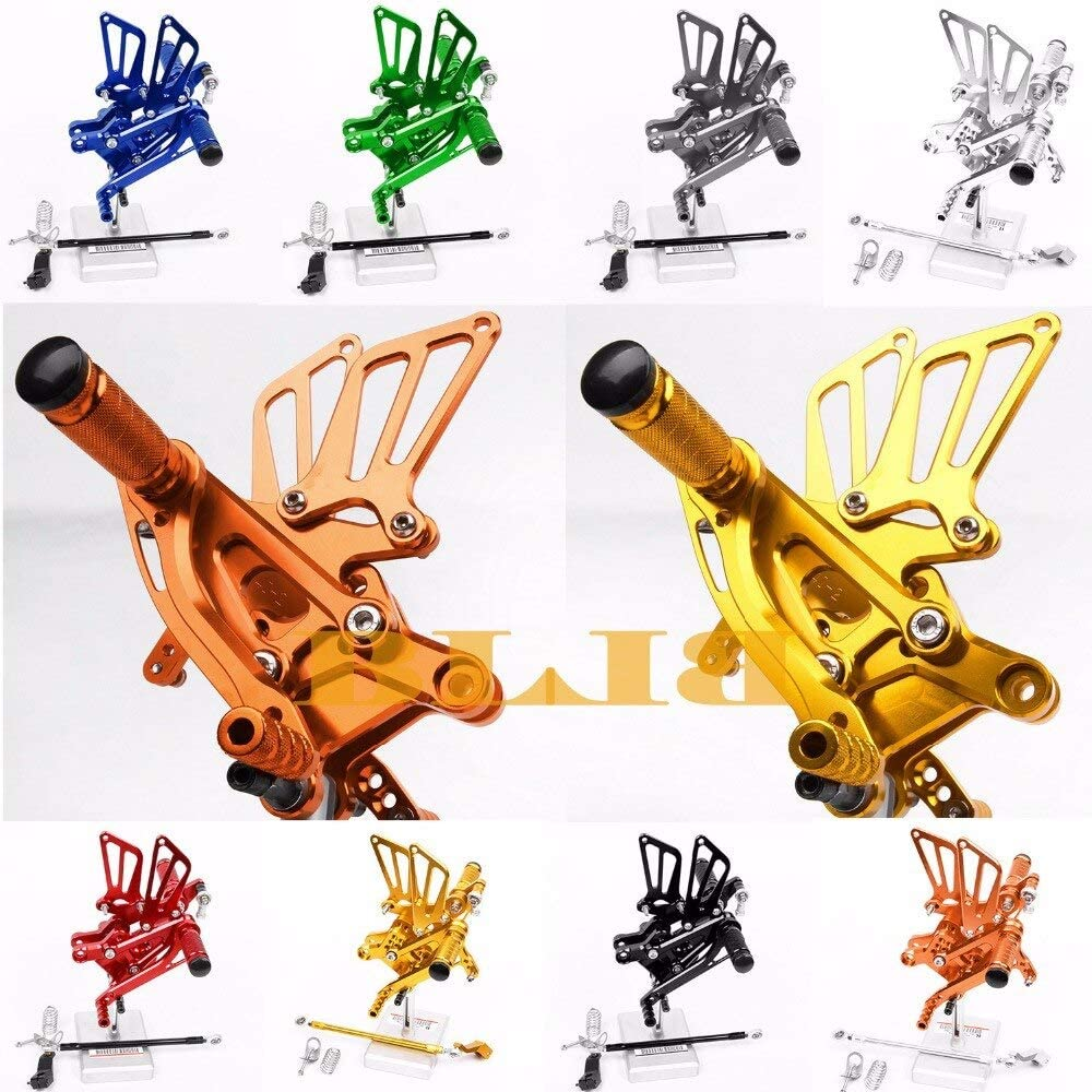 Frames & Fittings 8 Colors for Kawasaki Z800 2012-2014 CNC Adjustable Rearsets Rear Set Motorcycle Footrest High-Quality Moto Pedal 2012 2013 2014 - (Color: Silver)