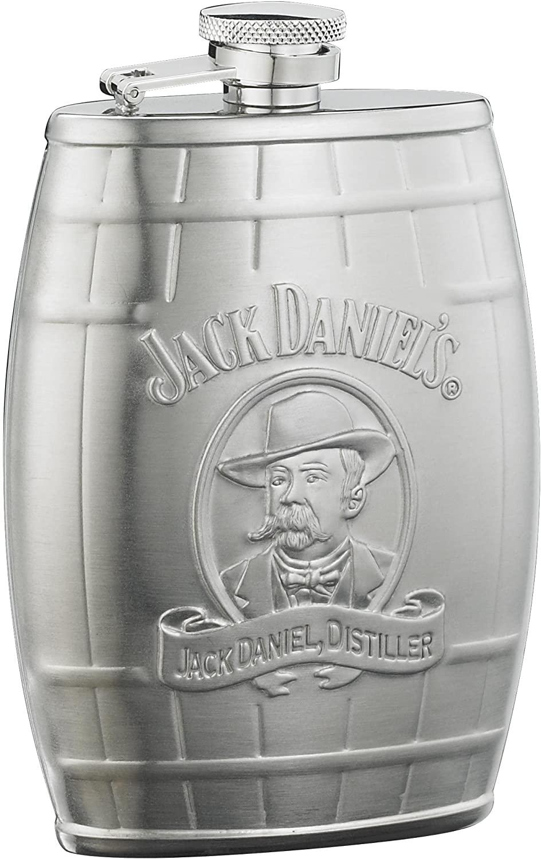 Jack Daniel's Licensed Barware Cameo Barrel Flask, 6-Ounce