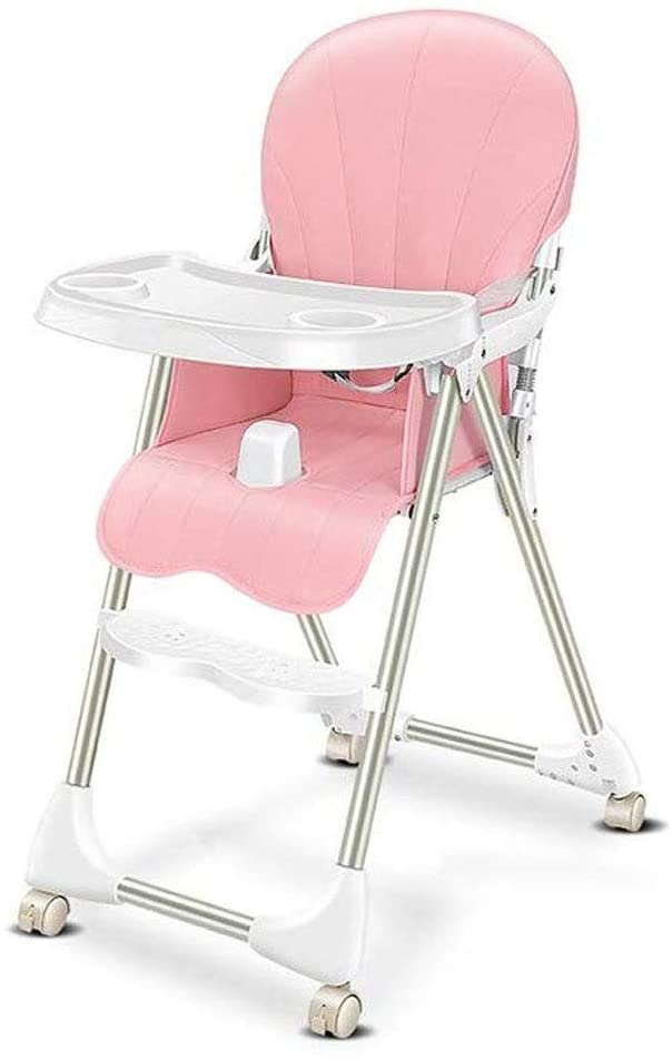 CHENNAO Highchair Yummy Ergonomic Comfortable Folded Feeding Chair with Detachable Tray Adjustable Heights and Backrest Footrest for Baby Toddlers from 6 Month to 3 Years