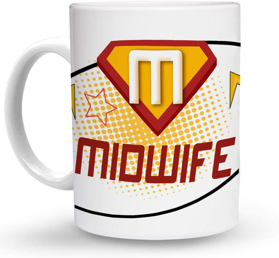 Makoroni - MIDWIFE Career 6 oz Ceramic Espresso Shot Mug/Cup Design#84