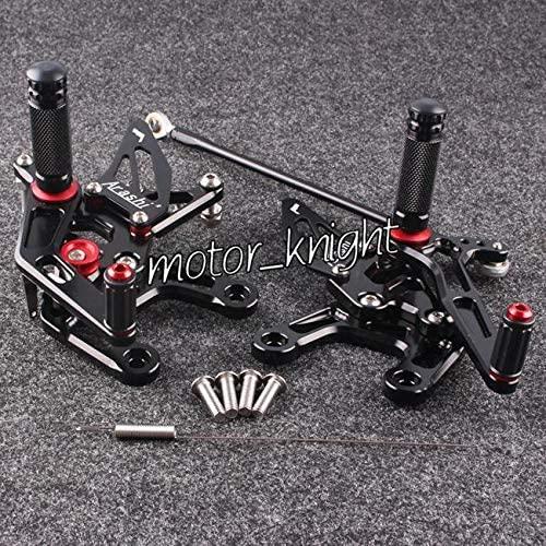 Frames & Fittings Motorcycle Rearset Rear Sets ZX10R Foot Pegs Fit Ninja ZX10R 2011-2014 Black