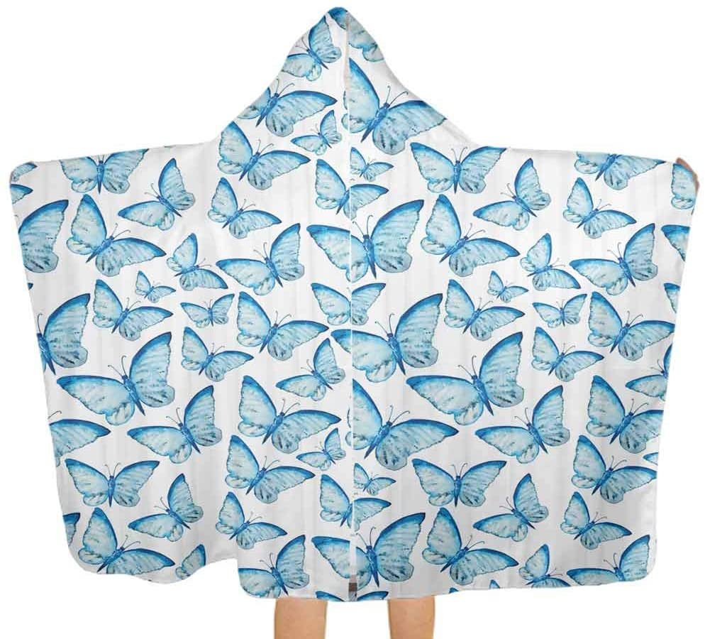 Baby Hooded Bath Towel Spring Flowers Ivy Art Kids Hooded Beach Bath Towel for Toddlers Girls Boys Baby, 51.5x31.8 Inch