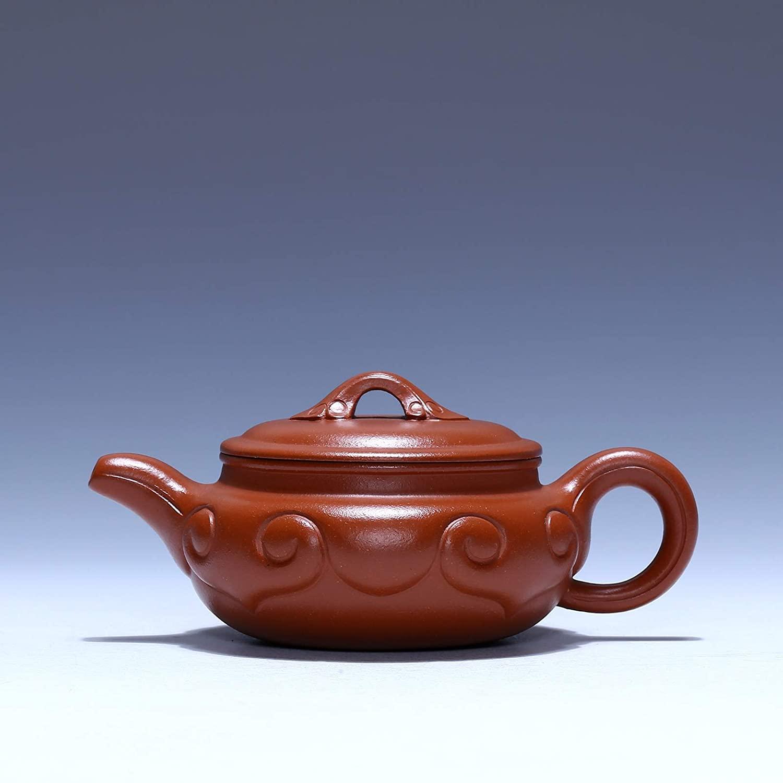 SHENLIJUAN teapot Antique hand-Zhuni wishful wishful teapot teapot inner wall section (Color : Zhu mud)