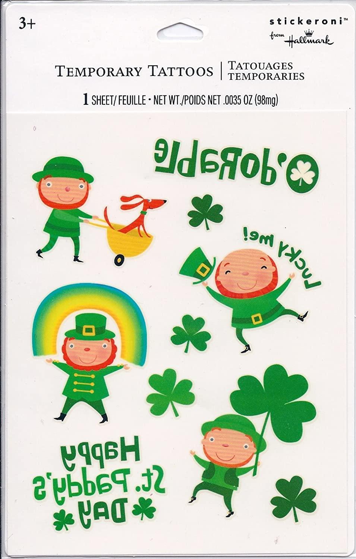 Stickeroni St. Patrick's Day Temporary Tattoos - 1 Sheet