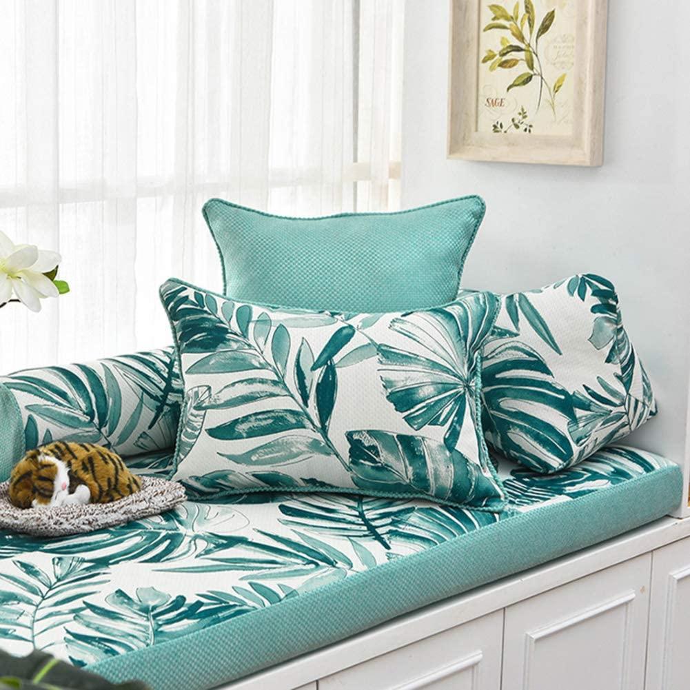 WAYERTY Print Flower Swing Bench Cushion,Indoor Seat Pads Outdoor Garden Seat Cushion Breathable Bay Window Pad Food Overstuffed Long Stool Greena 40x120x3cm(16x47x1inch)