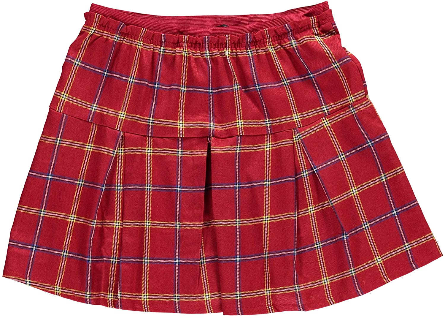 Big Girls Pleated Plaid Skirt in 3 Attractive Holiday Christmas Colors