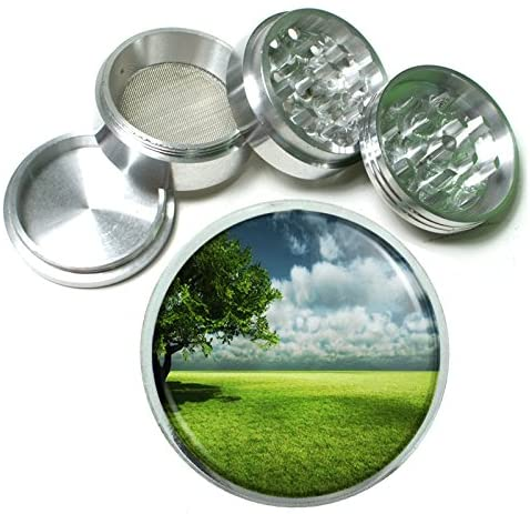 Eco D4 Herb & Spice Grinder 63mm 4 Piece Aluminum Silver Metal Green Environment Nature Ecosystem