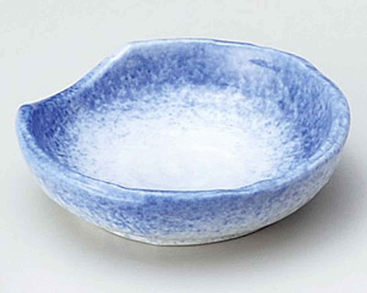 Sumi Blue Blow 3.5inch Set of 5 Small Plates White porcelain Made in Japan
