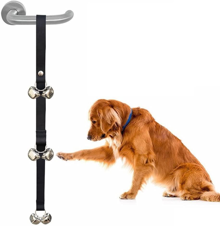 MiLuck Dog Door Bells for Potty Training,Adjustable Puppy Doorbells with 6 Large Loud 3.5cm DoorBell for House Traning,Housebreaking Training
