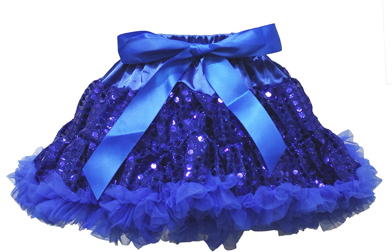 Wedding Dress Royal Blue Sequin Pettiskirt Skirt Tutu Girl Party Clothing 1-8y