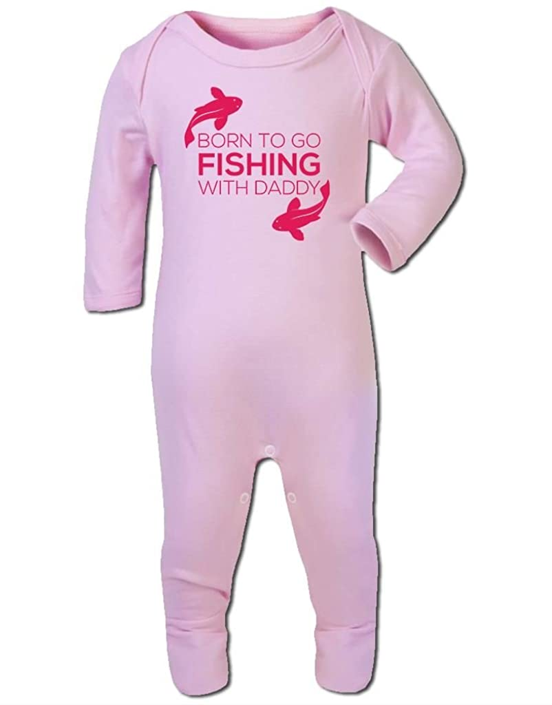 Baby Romper Suit Boy Girl One Piece Born to Go Fishing