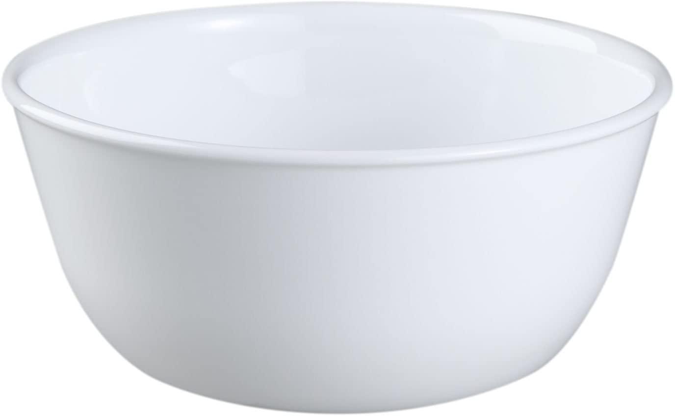 Corelle Livingware 1032595 28-Ounce Super Soup/Cereal Bowl, Winter Frost White - Set of 6