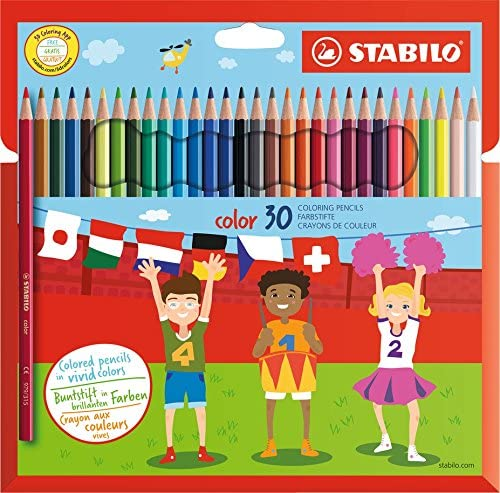 Colouring Pencil - STABILO Color Wallet of 30 Assorted Colours