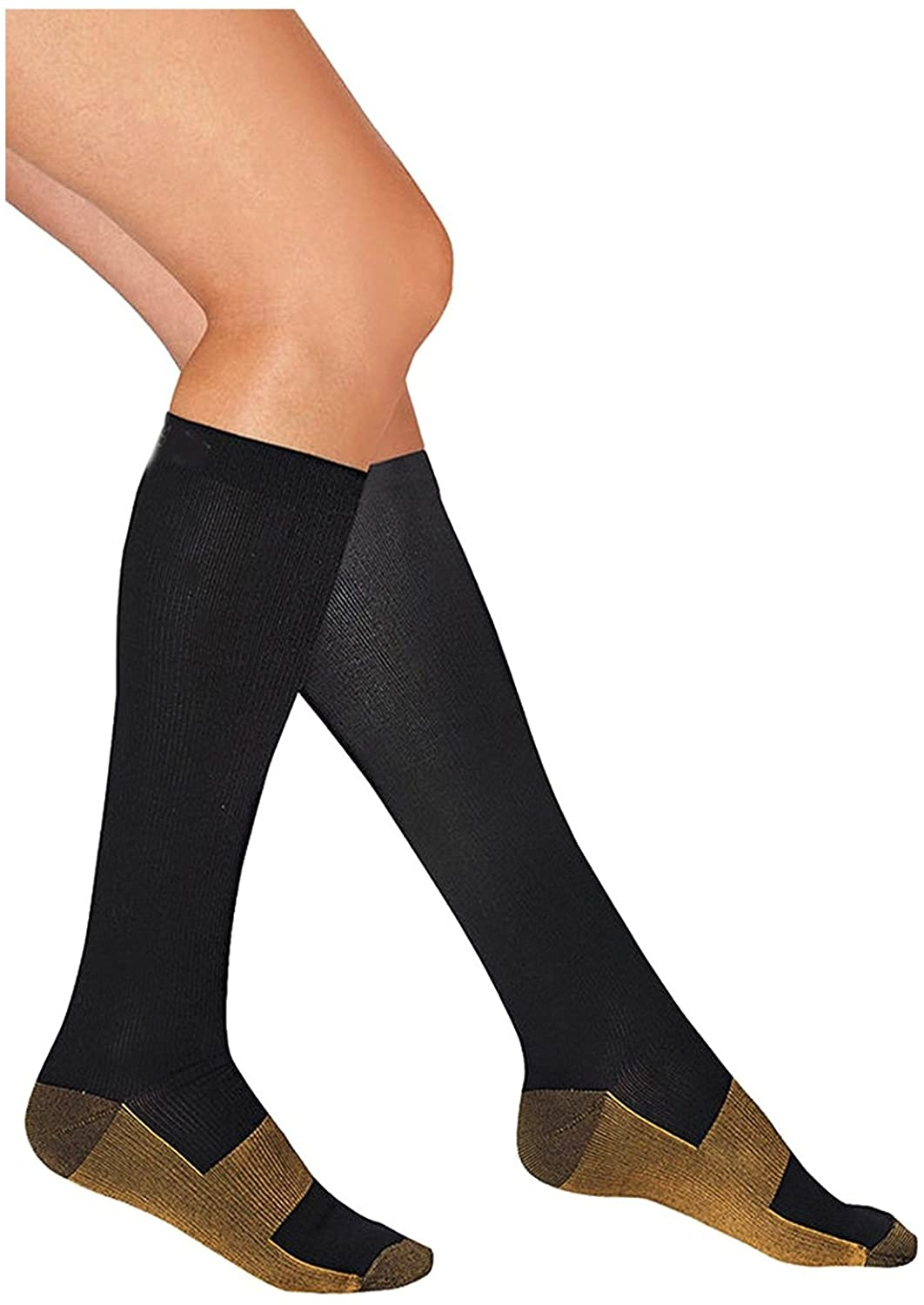 Copper Compression Socks Reduce Swelling Socks Antimicrobial Compression Socks - (S/M: Men 6.5-8.5 | Women 6.5-8.5)