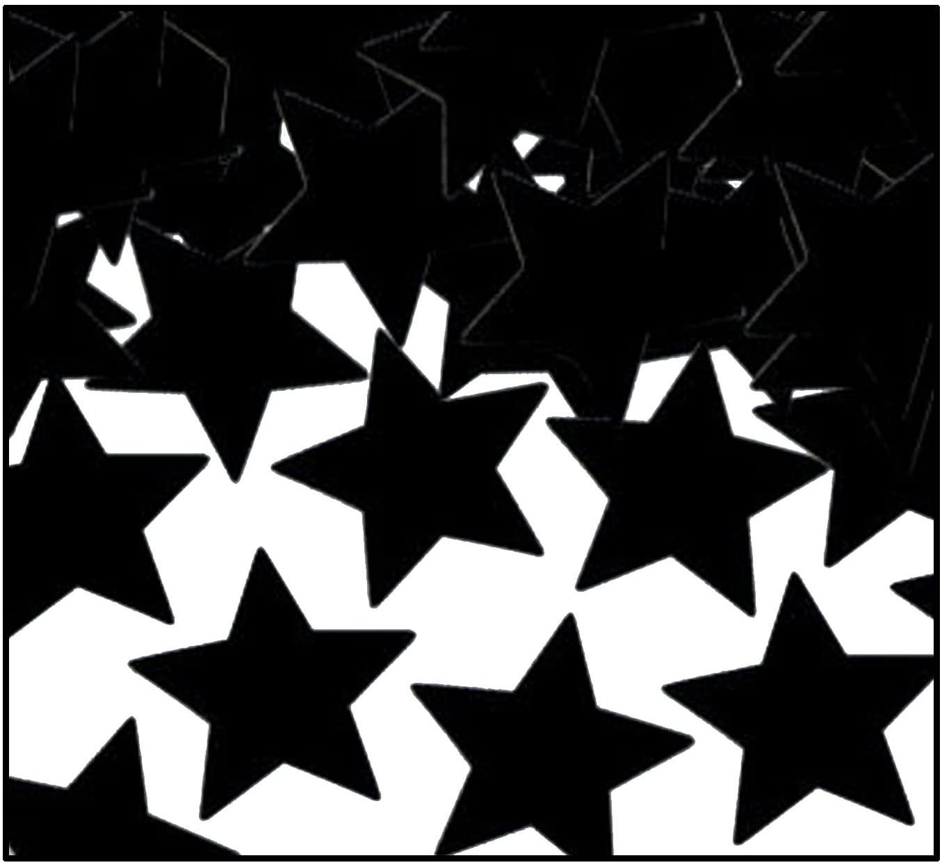 Fanci-Fetti Stars (black) Party Accessory  (1 count) (1 Oz/Pkg)