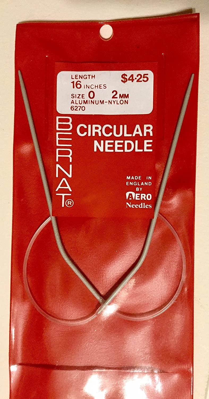 Knitting needles, Circular, size 0, 16