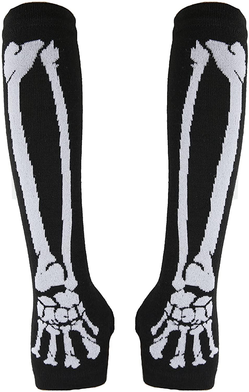 TIBOX Children's long-sleeved knit gloves Skull