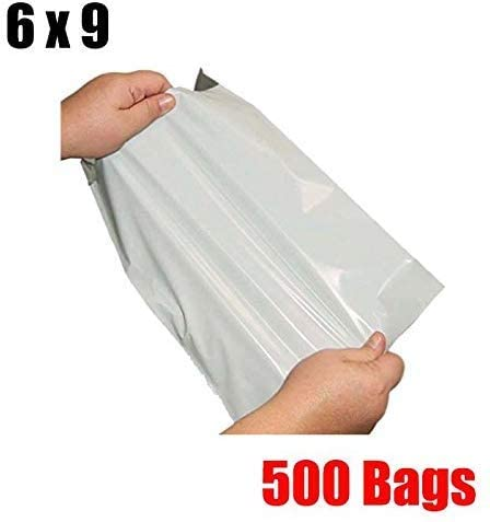 iMBAPrice 500 6x9 White Poly MAILING Shipping ENVELOPES Bags 6 x 9 (Total 500 Bags)