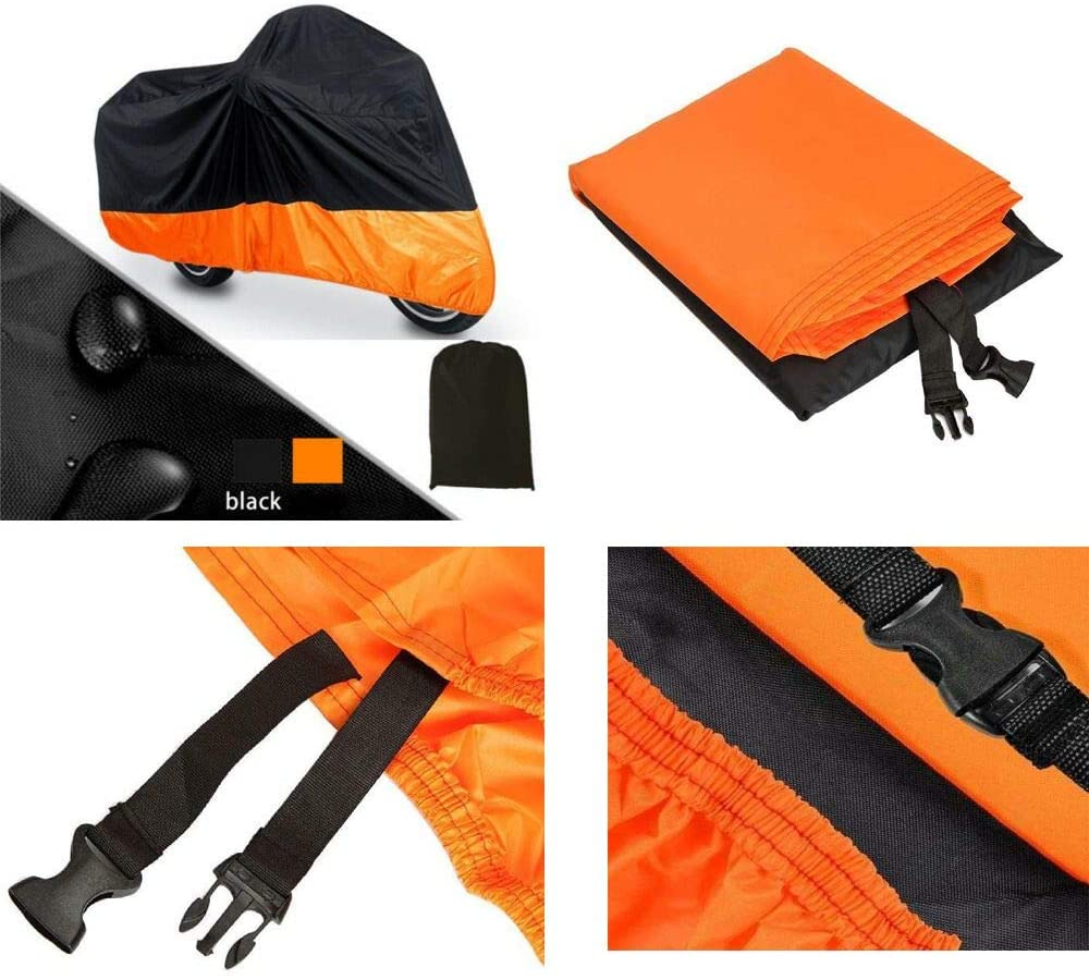Black & Orange Motorcycle Cover for BMW F650GS R1150GS UV Dust Prevention L