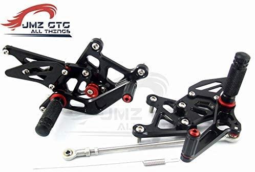Frames & Fittings Motorcycle CNC Adjustable Rear Set Rearsets Footrest Foot Rest for Honda CBR250R 2011 2012 2013 CBR300R 2015 2016 - (Color: Titanium)