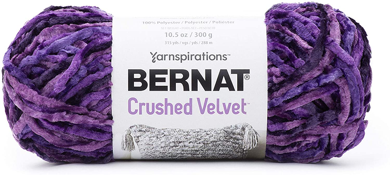 Bernat Crushed Velvet Yarn, Potent Purple