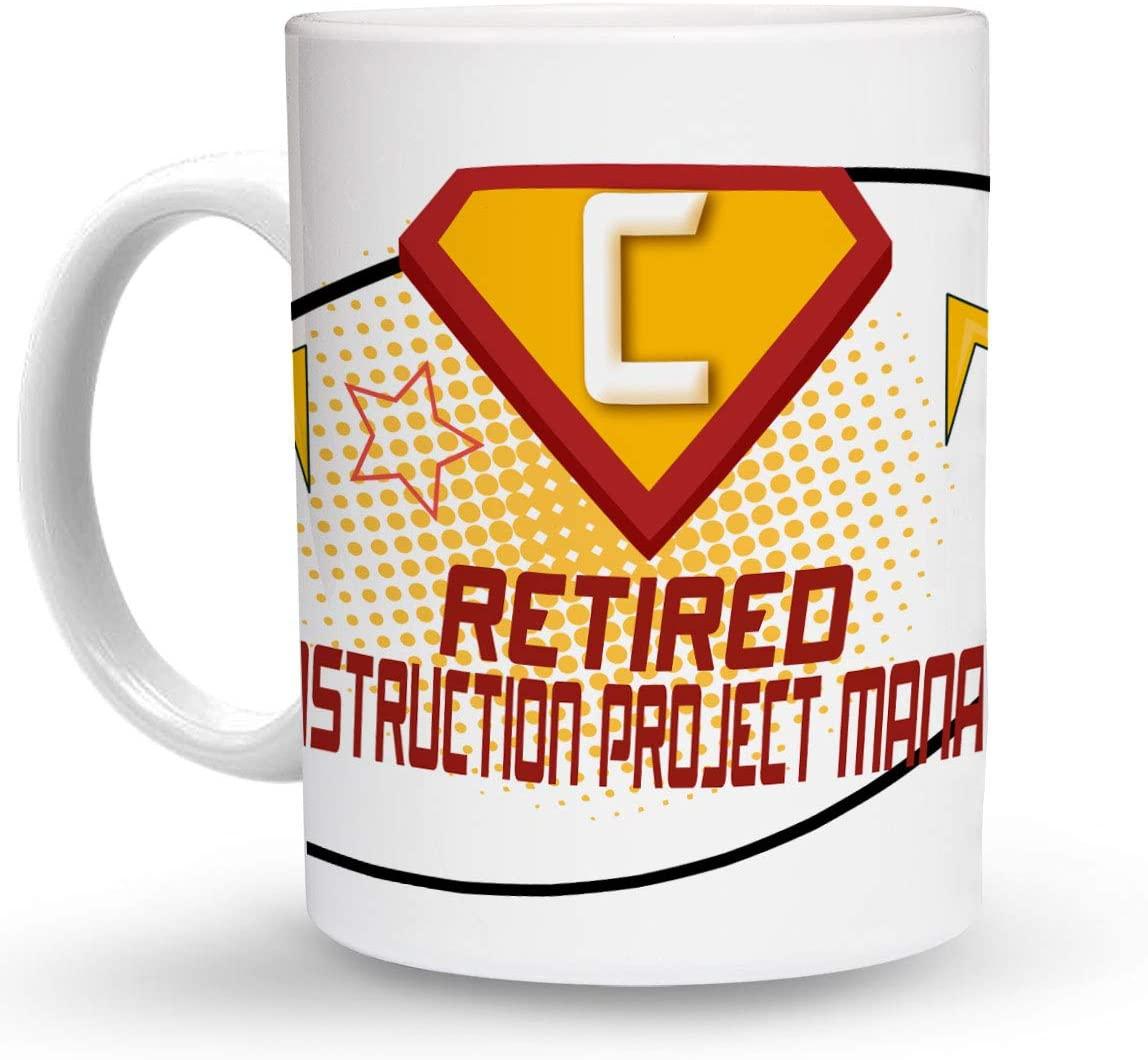 Makoroni - RETIRED CONSTRUCTION PROJECT MANAGER Career 6 oz Ceramic Espresso Shot Mug/Cup Design#64