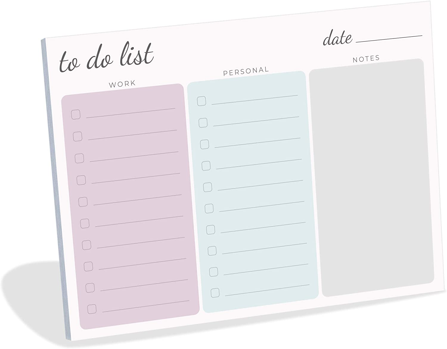 Large Work Home to Do List Sticky Notes, 8x6 inches by Daily Ritmo (Pastel)