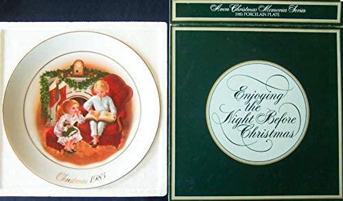 Avon 1983 Enjoying the Night Before Christmas Plate