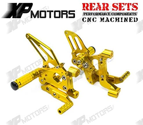 Frames & Fittings New Arrived CNC Foot pegs Adjustable Rearset Footrest Rear Sets for Ducati 899 Panigale 2014-2015 Gold