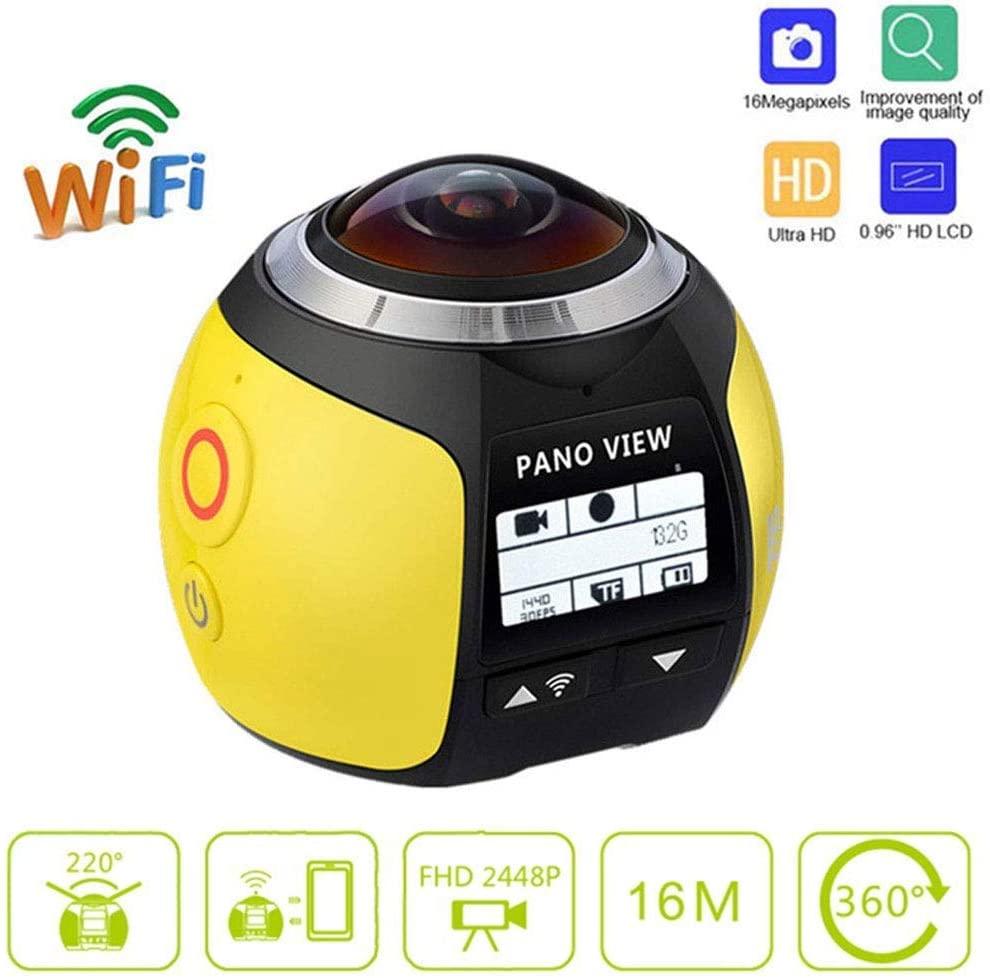 360 Action Camera 4K WiFi Mini Panoramic Camera 220 Wide Angle Panoramic Camera 4K 30fps VR 5MP HDMI Action Sports Cam DV Player,B