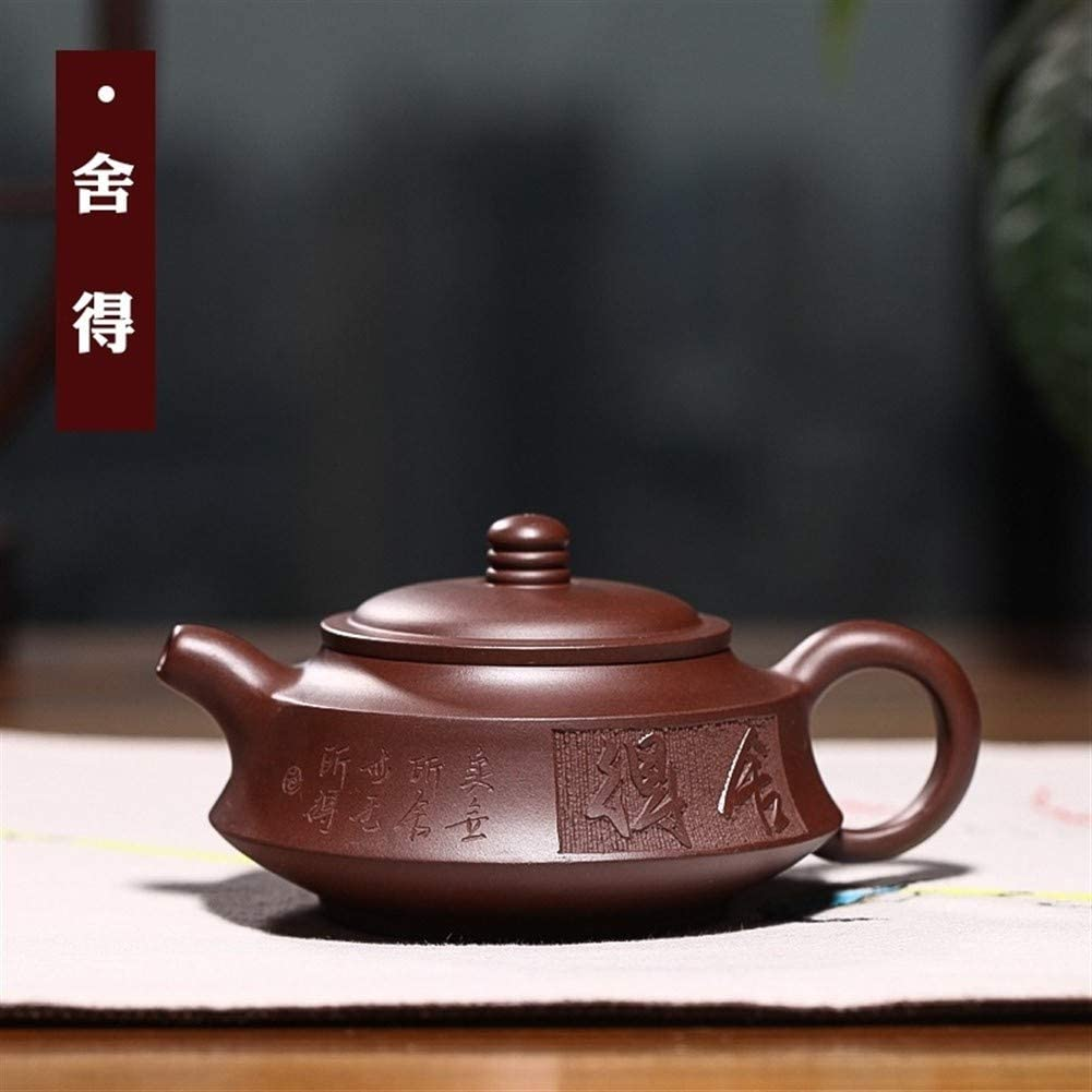 MADONG Teapot famous hand-boutique willing circumstellar disk teapot travel tea (Color : Purple mud)