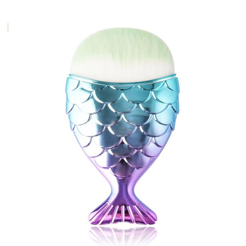 Luxsea Mermaid Brush Professional Powder Mermaid Makeup Brushes Set Maquiagem Foundation Contour Brushes