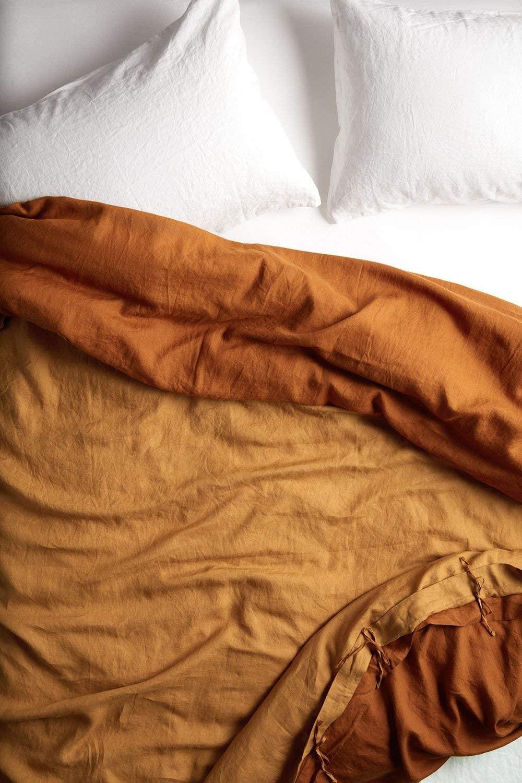 YaYa & Co. Sofia Reversible Belgian Flax Linen Duvet Cover