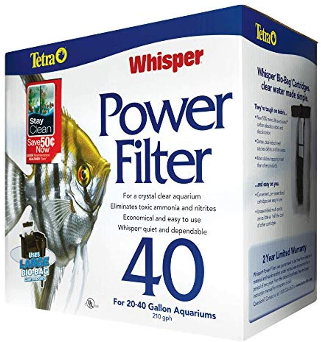 Tetra Whisper Power Filter for Aquariums, 3 Filters in 1
