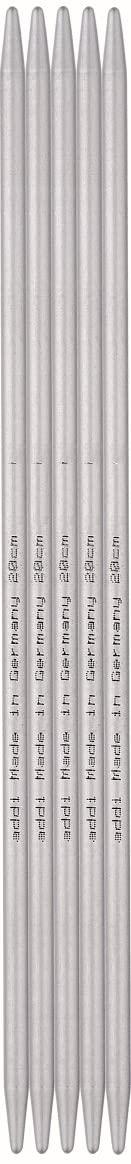Addi Double Pointed Needles, Aluminium, 20cm, 4.0mm