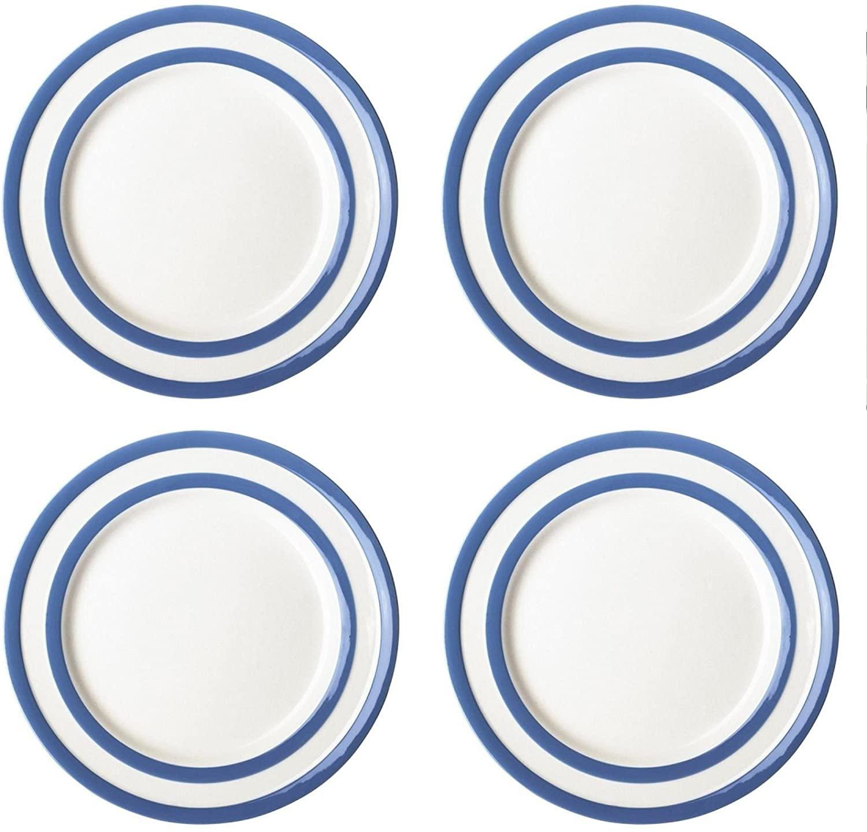Cornishware Blue and White Stripe Set of 4 Side Plates 7