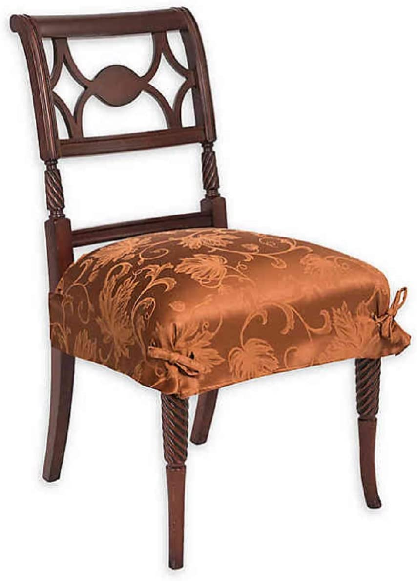 Town & Country Living Autumn Vine Seat Covers in Bronze Damask, Set of 2