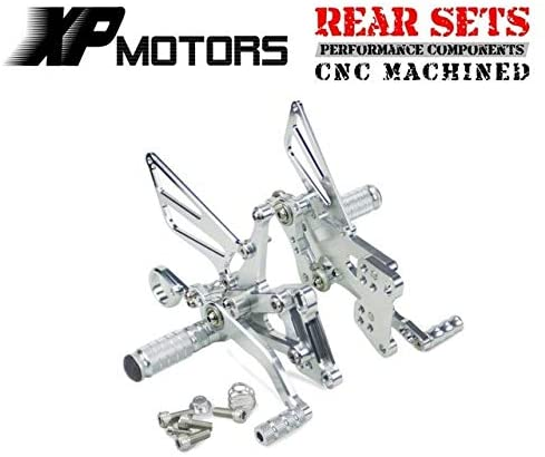 Frames & Fittings Huscus Motorcycle Racing Adjustable Rearset Rear Foot Pegs Sets Footpeg Fit for BMW S1000R S 1000R S 1000 R 2014 2015 - (Color: Silver)
