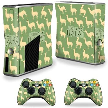 MightySkins Skin Compatible with X-Box 360 Xbox 360 S Console - Llama | Protective, Durable, and Unique Vinyl Decal wrap Cover | Easy to Apply, Remove, and Change Styles | Made in The USA