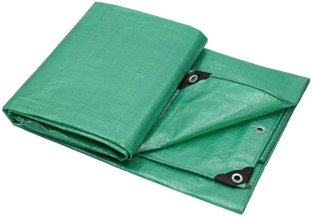 HOMRanger Green Polthylene PE Household Rainproof Cloth Double-Sided Waterproof Industrial Waterproof Tarpaulin. (Size : 57m)