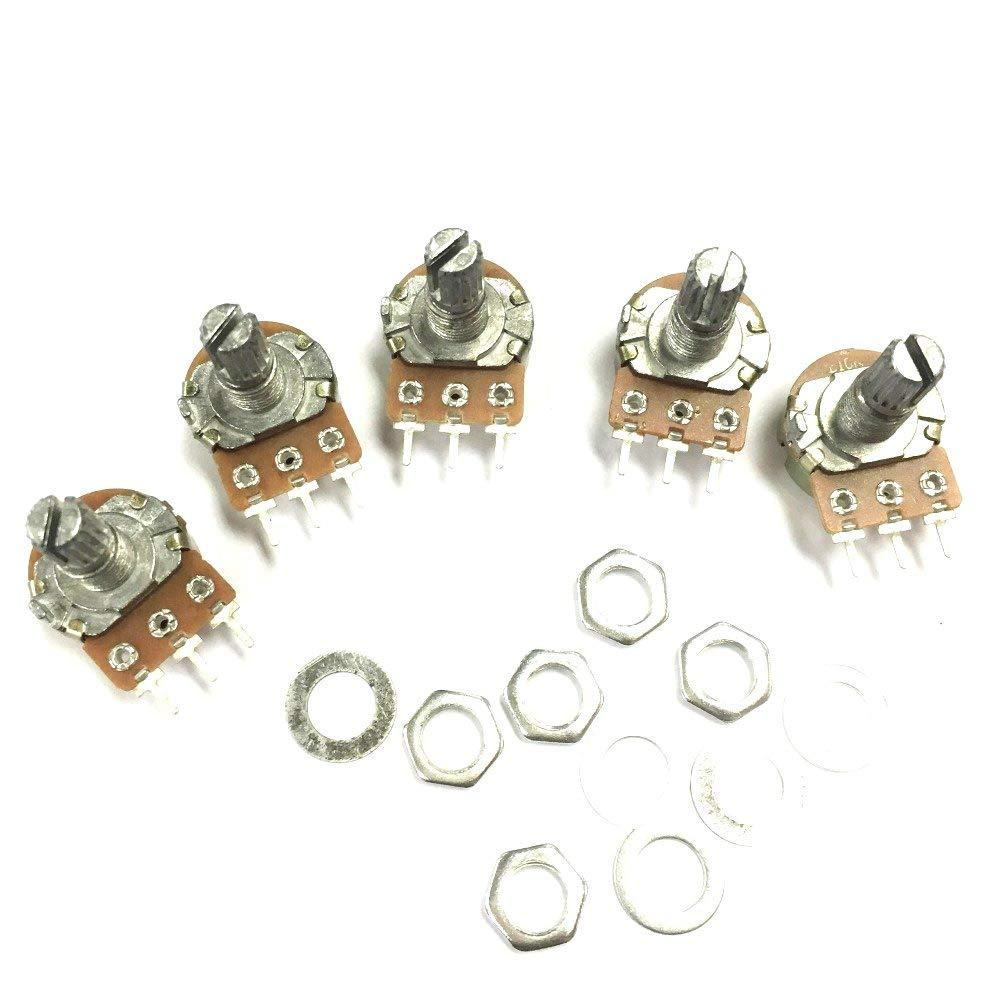 iProTool 100pcs Potentiometer Pot WH148 B20K 20K Linear Shaft 15mm 3PIN