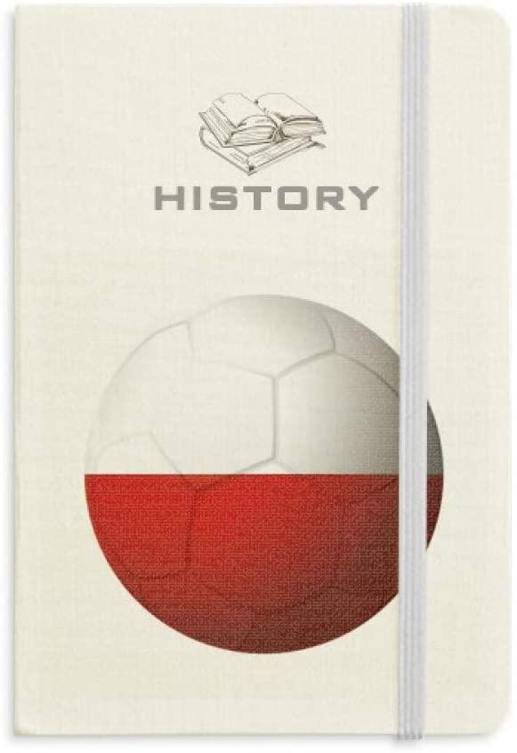 Poland National Flag Soccer Football History Notebook Classic Journal Diary A5